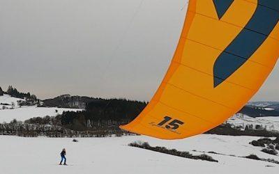 Snowkiten – der allererste Versuch